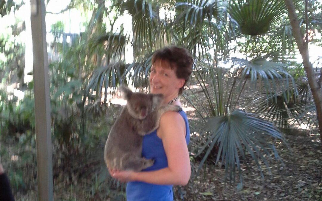 Knuffelen met een koala